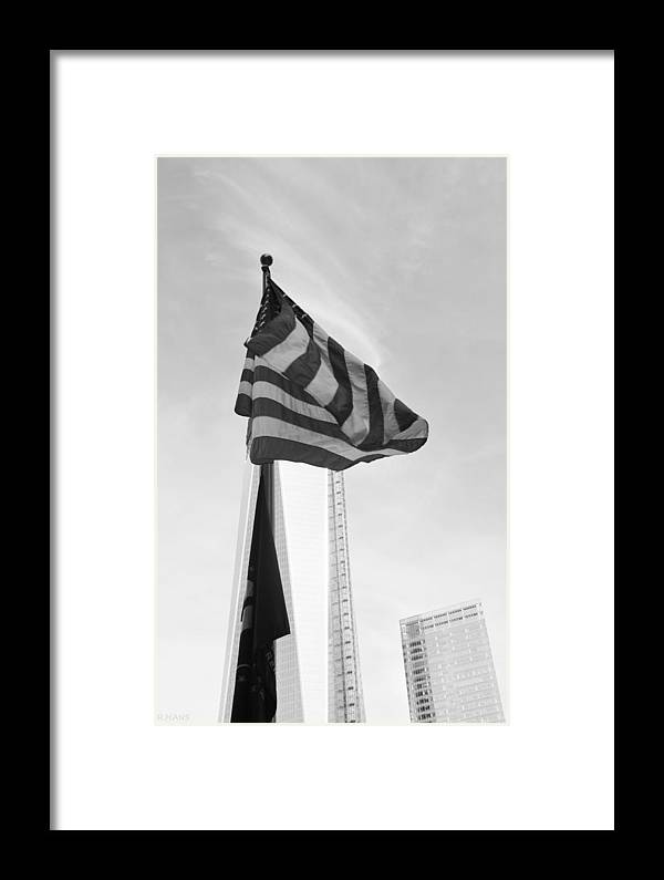 Wtc Framed Print featuring the photograph Symbols In Black And White by Rob Hans