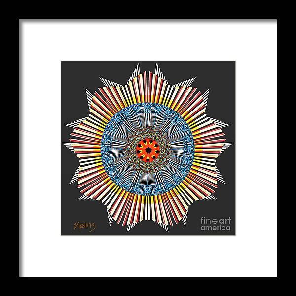 Fine Art Framed Print featuring the painting Symmetrica 281 by Nedunseralathan R