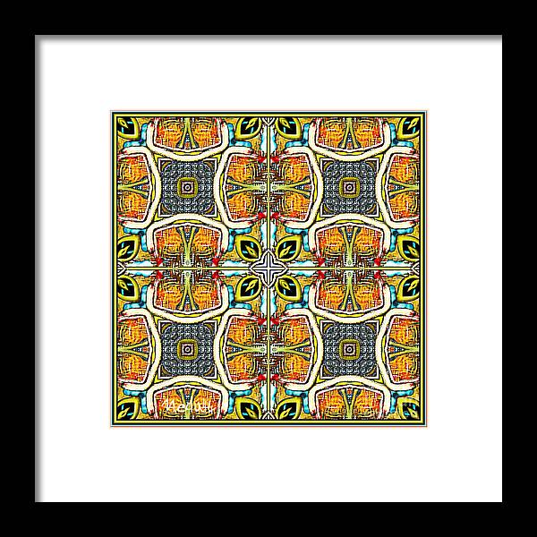 Fine Art Framed Print featuring the painting Symmetrica 379 by Nedunseralathan R