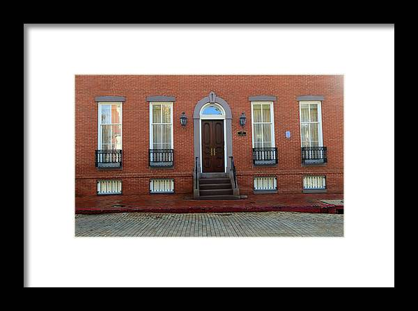 Buildings Framed Print featuring the photograph Symmetry In Brick by Mary Haber