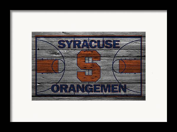 Orangemen Framed Print featuring the photograph Syracuse Orangemen by Joe Hamilton