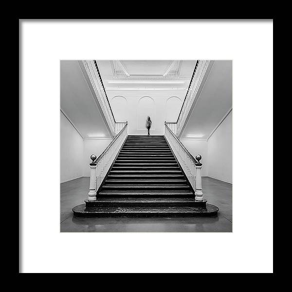 Stairs Framed Print featuring the photograph Tabakalera by Ritxard Perez