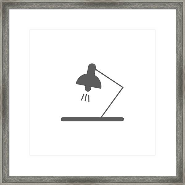 Art Framed Print Featuring The Drawing Table Lamp Icon. Element Of  Education Icon. Premium