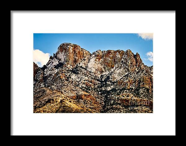 Arizona Framed Print featuring the photograph Table Mountain In Winter 42 by Mark Myhaver