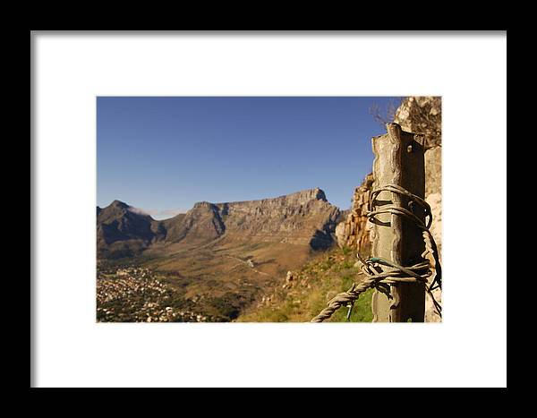 Table Mountain Framed Print featuring the photograph Table Mountain by Renette Louw
