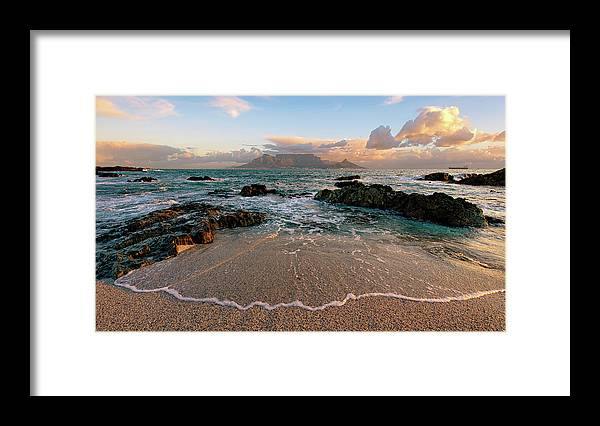 Tranquility Framed Print featuring the photograph Table Mountain Wave Fan by Paul Bruins Photography