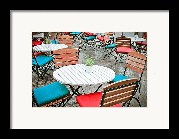 Al Fresco Framed Print featuring the photograph Tables And Chairs by Tom Gowanlock