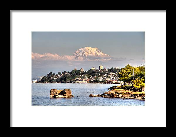 Mt Framed Print featuring the photograph Tacoma City Skyline by Rob Green