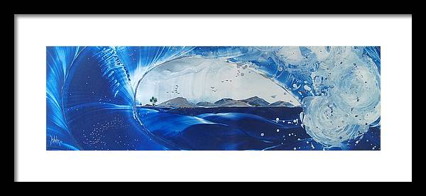 Wave Framed Print featuring the painting Tahitian Spring Rollers by Danita Cole