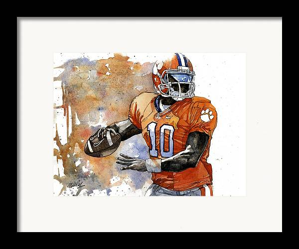 Tahj Framed Print featuring the painting Tahj Boyd by Michael Pattison