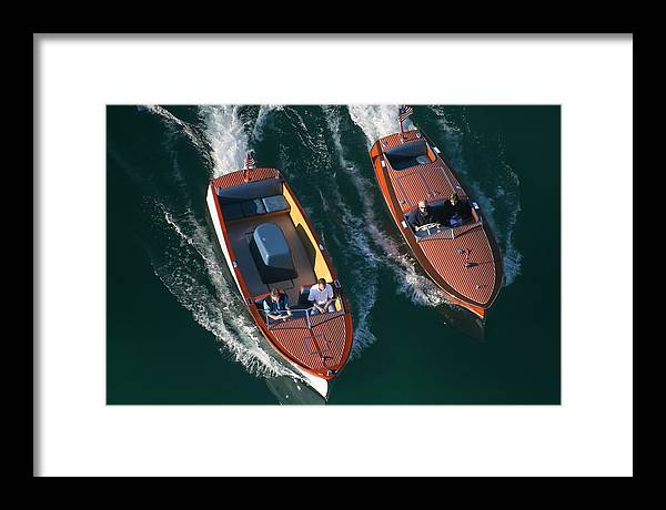 Chris-craft Framed Print featuring the photograph Tahoe Aerial by Steven Lapkin