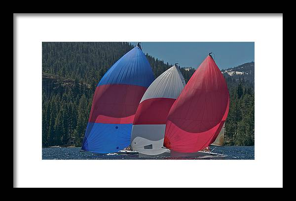 Spinnaker Framed Print featuring the photograph Tahoe Chutes by Steven Lapkin