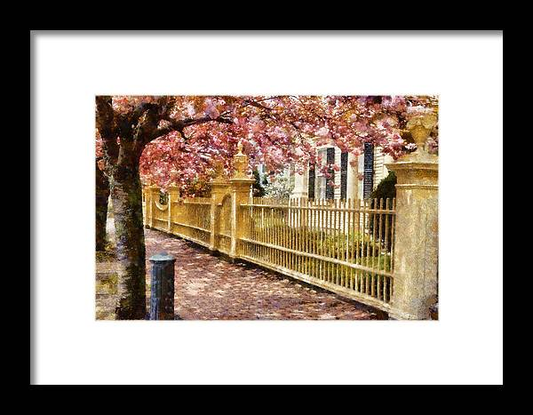 Salem Framed Print featuring the photograph Take A Walk Along Federal Street by Jeff Folger
