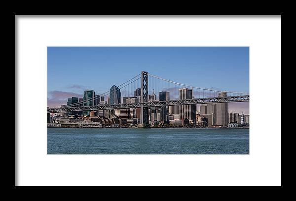 Scenics Framed Print featuring the photograph Taking The San Francisco Bay Ferry To by George Rose