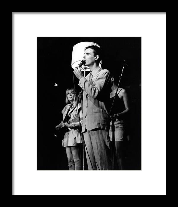 Talking Heads Framed Print featuring the photograph Talking Heads 1983 by Chris Walter
