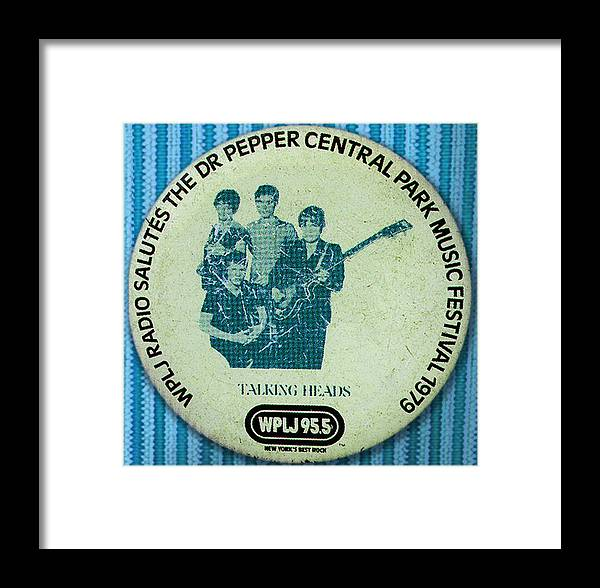 Badges Framed Print featuring the photograph Talking Heads '79 by Del Gaizo