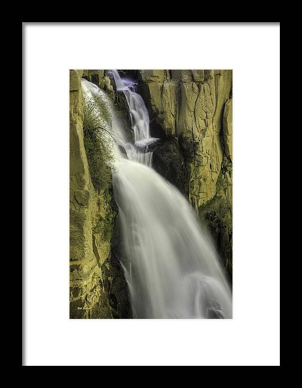 Waterfalls Framed Print featuring the photograph Tall Canyon Waterfalls by Bill Sherrell