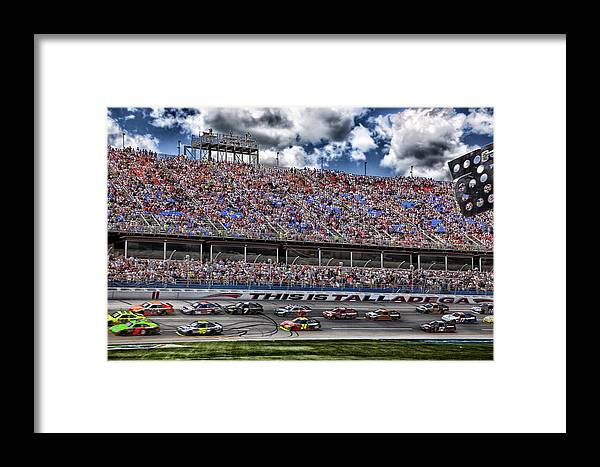 Talladega Superspeedway Framed Print featuring the photograph Talladega Superspeedway In Alabama by Mountain Dreams