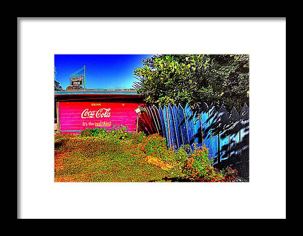 Tallula Framed Print featuring the photograph Tallulah Point Overlook Coke Sign by Zane Kuhle