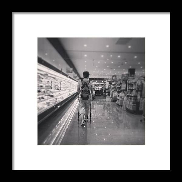 Framed Print featuring the photograph Tama Saturday Night by Tokyo Sanpopo