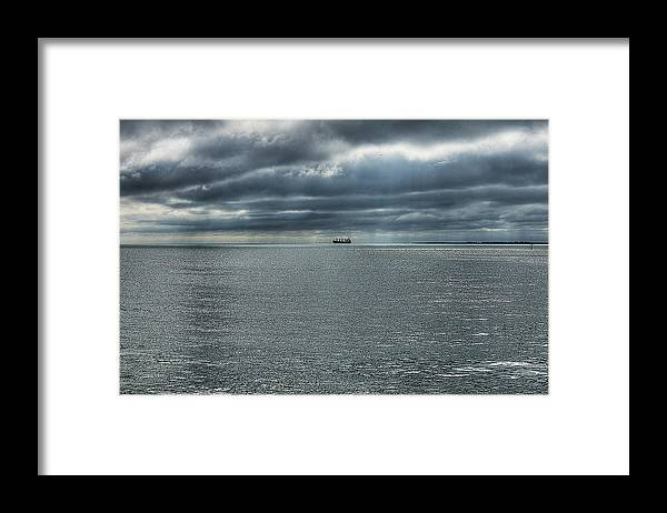 Aqua Framed Print featuring the photograph Tampa Bay by Gouzel -