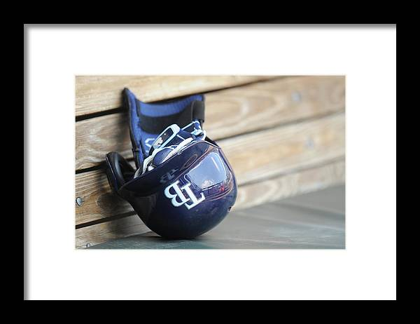 Headwear Framed Print featuring the photograph Tampa Bay Rays V Baltimore Orioles - by Mitchell Layton