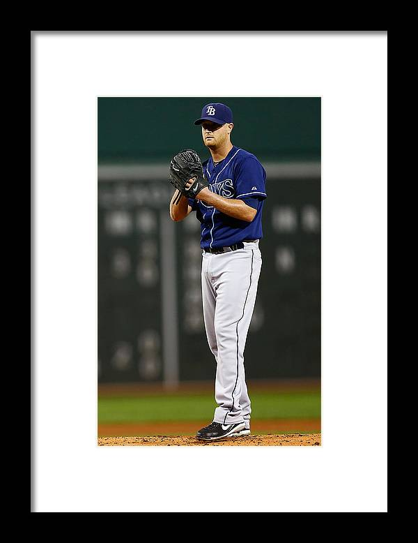 American League Baseball Framed Print featuring the photograph Tampa Bay Rays v Boston Red Sox by Jared Wickerham