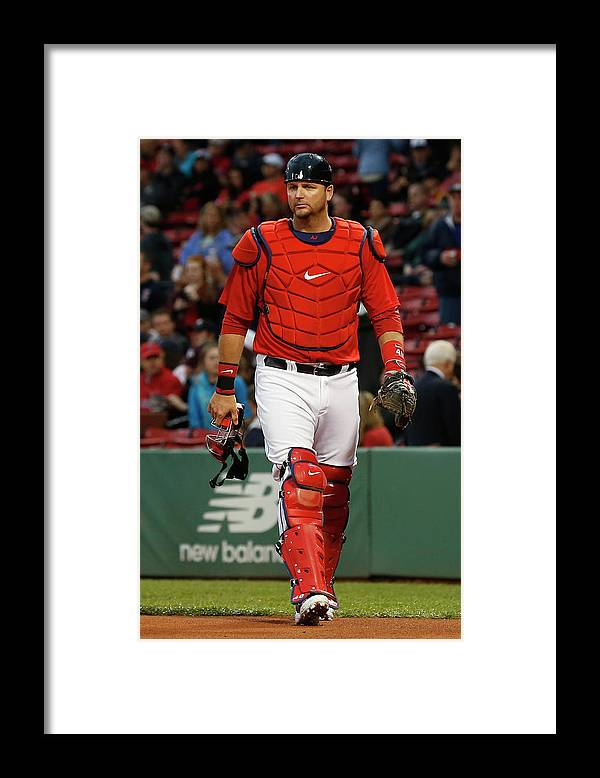American League Baseball Framed Print featuring the photograph Tampa Bay Rays V Boston Red Sox by Winslow Townson