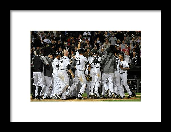 Ninth Inning Framed Print featuring the photograph Tampa Bay Rays V Chicago White Sox by David Banks
