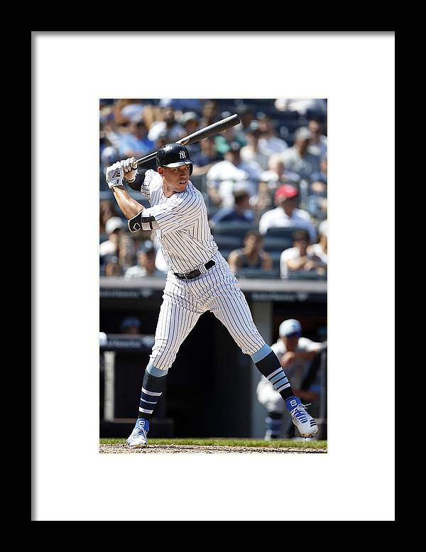 People Framed Print featuring the photograph Tampa Bay Rays v New York Yankees by Adam Hunger