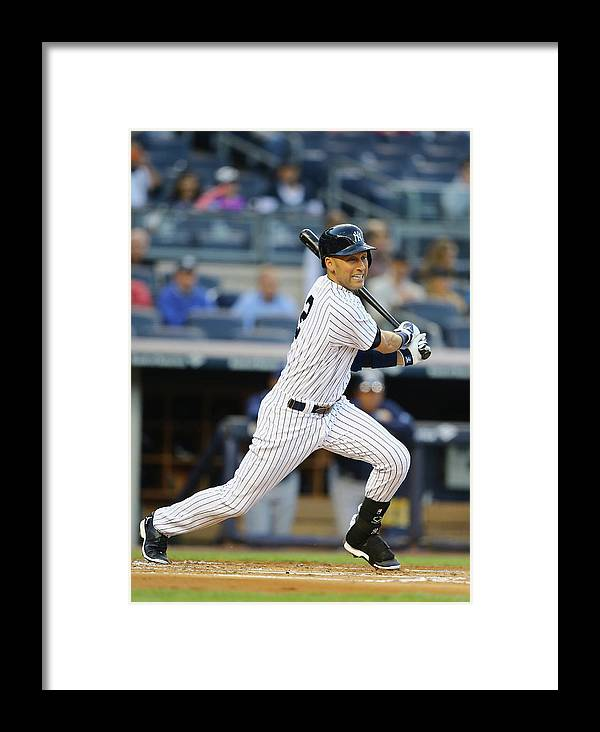 People Framed Print featuring the photograph Tampa Bay Rays V New York Yankees by Al Bello
