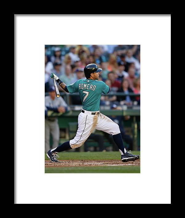 Second Inning Framed Print featuring the photograph Tampa Bay Rays V Seattle Mariners by Otto Greule Jr