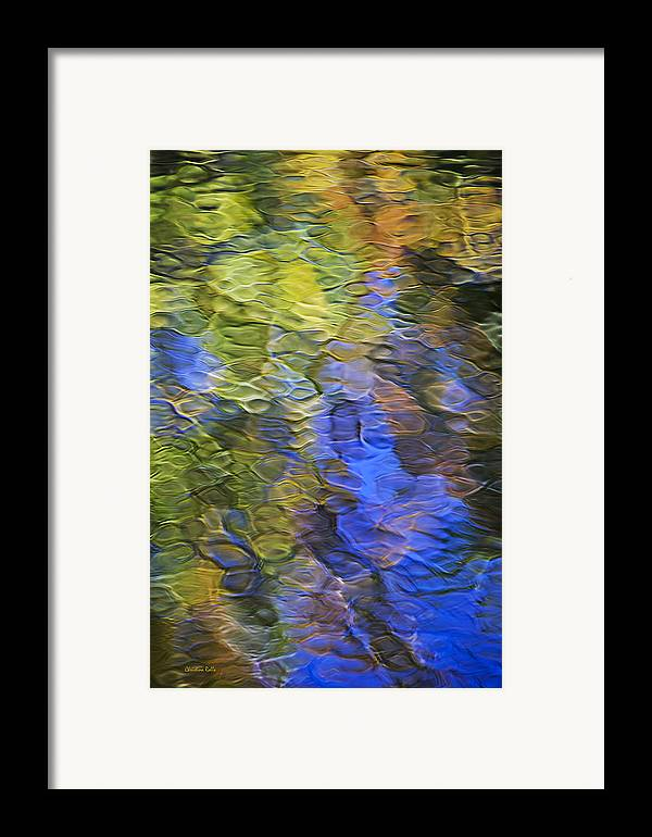 Abstract Framed Print featuring the photograph Tangerine Twist Mosaic Abstract Art by Christina Rollo