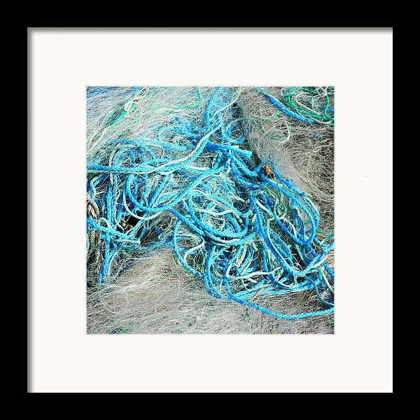 Fishing Nets Framed Print featuring the photograph Tangled by Sharon Lisa Clarke