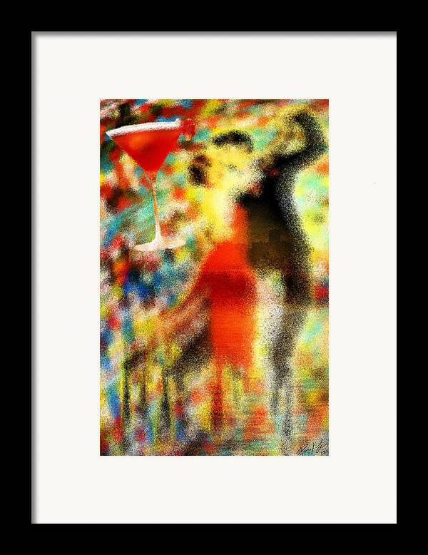 Tango As The Sunset Framed Print featuring the painting Tango As The Sunset by Kenal Louis