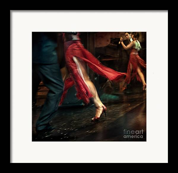 Tango Framed Print featuring the photograph Tango Reflection by Michel Verhoef