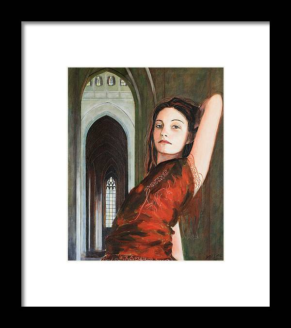 Tantra Princess Framed Print featuring the painting Tantra Princess by Jean-Paul Setlak