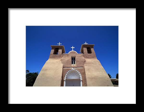 New Mexico Framed Print featuring the photograph Taos Mission by Rich Franco