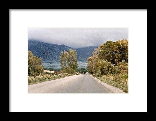 Taos Framed Print featuring the photograph Taos Road by Ricardo J Ruiz de Porras