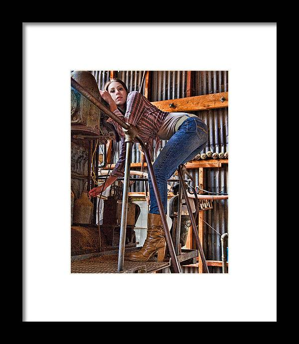 Model Framed Print featuring the photograph Tara Jerome 1 by Joel Gilgoff