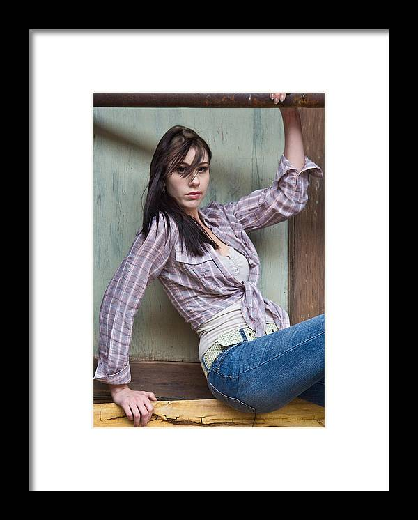 Model Framed Print featuring the photograph Tara Jerome 3 by Joel Gilgoff