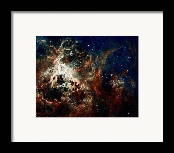 Hubble Framed Print featuring the photograph Tarantula Nebula by Amanda Struz