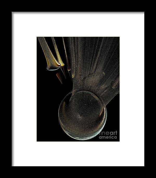 Digital Art Framed Print featuring the digital art Target The Planet by Gail Matthews