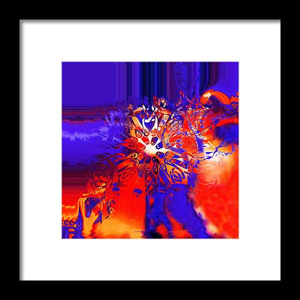 Abstract Framed Print featuring the digital art Target by Vagik Iskandar