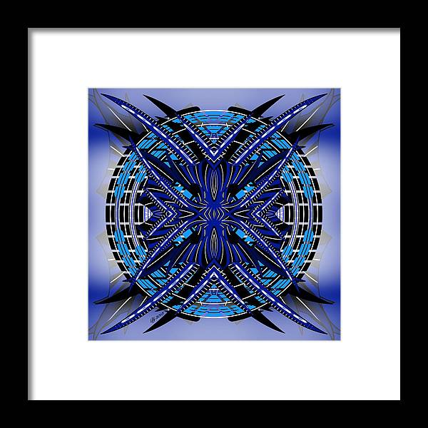 Abstract Framed Print featuring the digital art Targeting 1 by Brian Johnson