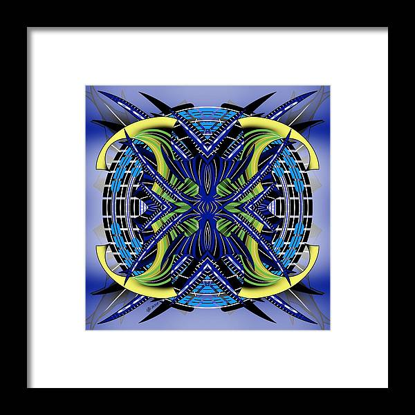 Abstract Framed Print featuring the digital art Targeting 2 by Brian Johnson