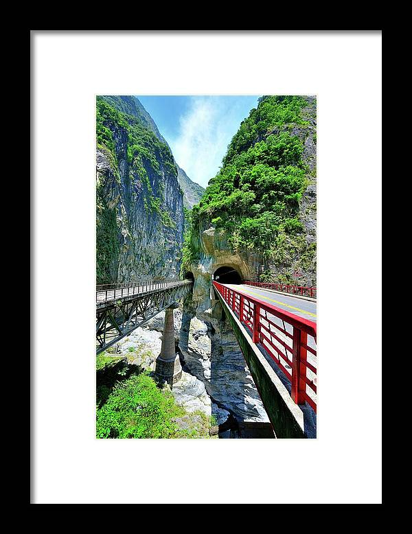 Built Structure Framed Print featuring the photograph Taroko Gorge by Photography By Anthony Ko