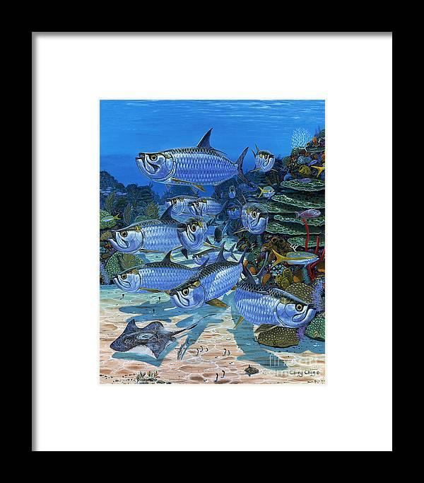 Tarpon Framed Print featuring the painting Tarpon Alley In0019 by Carey Chen