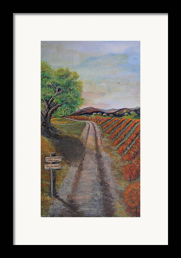 Wine Framed Print featuring the painting Tasting Room by Dixie Adams