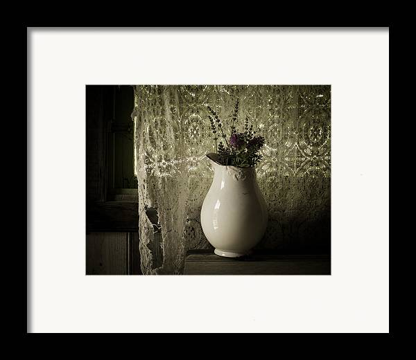 Lavender Framed Print featuring the photograph Tattered by Amy Weiss